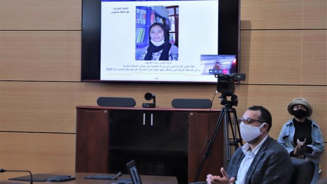 Sarah Eddaaif - vice-championne de l'Arab Reading Challenge - année 2020.