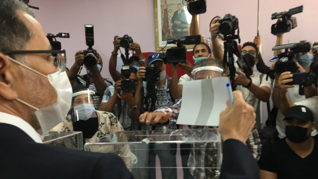 Othmani vote à Salé
