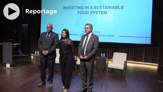 Expo Dubaï 2020 - El Mahdi Arrifi, directeur général de l Agence pour le développement agricole (ADA) - Ghita El Ghorfi, directrice générale de Morocco FOODEX -