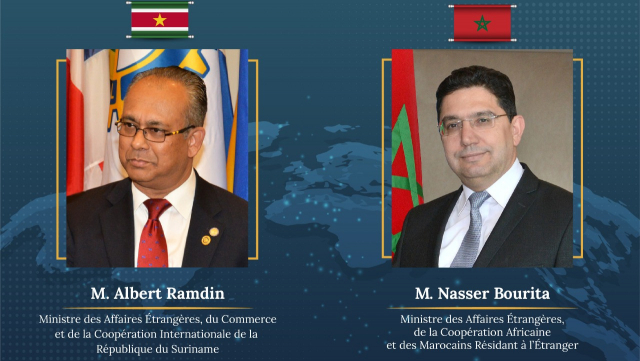 Nasser Bourita - Albert Ramdin - Maroc - Suriname