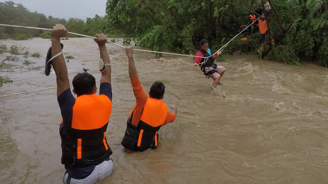 Philippines - Typhon - Tempête tropicale - Kompasu - Gonzaga - Nord de Manille