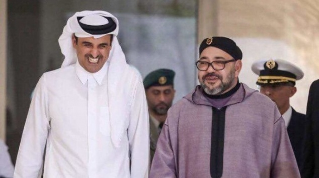 Le roi Mohammed VI et Tamim Bin Hamad Al-Thani, émir du Qatar