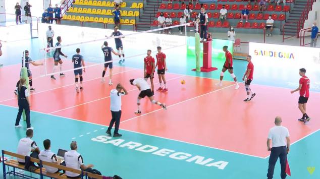 L'équipe nationale U21 de volley-ball.
