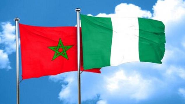 Drapeaux Maroc - Nigeria