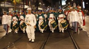 Parade Garde Royale le 29 juillet 2013 bd Zerktouni. av Hassan 2. place Mohammed V - 6