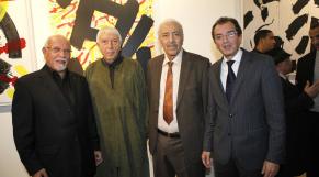 Mohamed Chabaa Artiste Peintre au loft galerie  melihi.belkahia.sbihi ministre culture 18 dec 2012