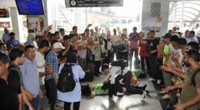 diplomés chômeurs gare de Rabat