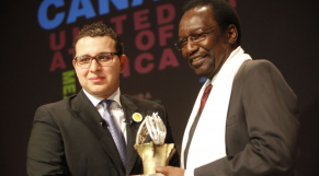 Dioncounda Traoré et Brahim Fassi Fihri Medyas 2013