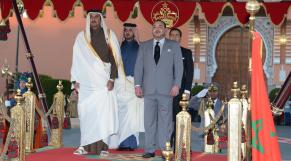 Mohammed VI - Cheikh Tamim Ben Hamad Al-Thani-cérémonie