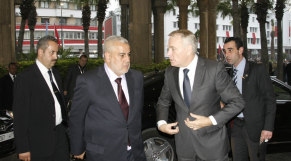 Abdelilah Bankirane, chef d et Jean Marc Ayrault à Rabat.