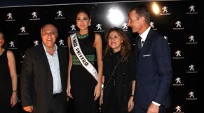 Miss univers2013 Maria Gabriela Isler .PEUGEOT  Soirée  AU HYAT REGENCY CASABLANCA 9 Avril 2014