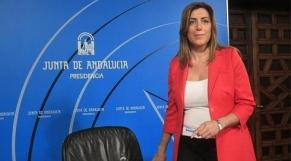 Susana Diaz, présidente de la Communauté autonome d'Andalousie.