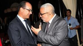 Abdelilah Benkirane et Saïd Ahmidouch, DG CNSS.