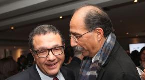 Mohamed Boussaid Ministre des Finances et Abdelkader Boukhriss SFM
