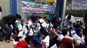 Grogne des étudiants infirmiers4