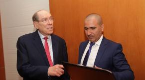 Wafa Assurance lance l'indemnisation « Ultra-Rapide »   Jean-charles Freimuller DG Wafa Assurance et Koudama ZEROUAL Directeur central wafa assurance.