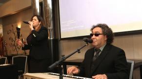 Sanaa Marahati,chanteuse de melhoun et de gharnati et Fattah Ngadi,Musicien,chanteur,arrangeur,compositeur,directeur artistique,professeur et acteur.