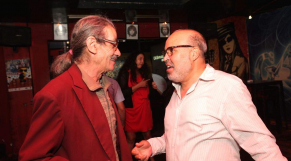 Abdelkrim Mohamed Derkaoui,directeur de la photographie et réalisateur et Mohammed Kaouti, écrivain et dramaturge .
