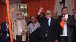 mohamed yatim UNTM  et Abdelilah Benkirane,  Casablanca  1 mai 2015