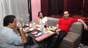 Mouna Fettou,actrice.Adil Fadili,realisateur et Noureddine Lakhmari,realisateur.