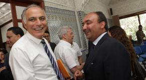 Salaheddine Mezouar,Président RNI et Moncef Belkhayat.