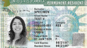 Green card USA etats-unis