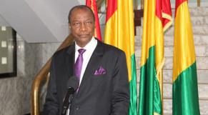 Alpha Condé, président République de Guinée
