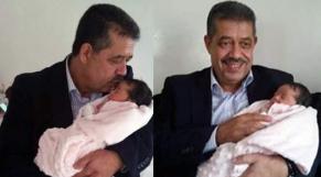 Hamid Chabat et sa petite fille