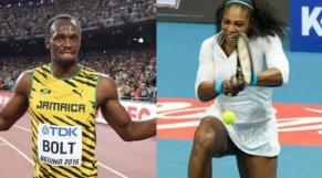 Usain Bolt et Serena Williams