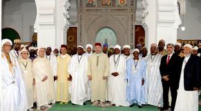 le roi avec les oulema africains