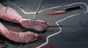 dessin meurtre couteau