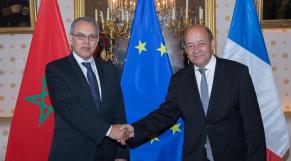 Abdellatif Loudiyi avec Jean-Yves Le Drian