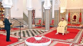 Le roi reçoit wali bank al-maghrib