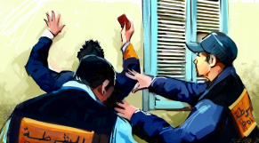 Arrestation contrôle dessin