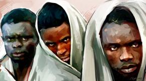 Immigration Subsahariens sauvetage dessin
