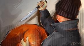 Agression arme blanche couteau dessin