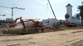 Destruction de l'hôtel IBIS près de la gare Casavoyageur