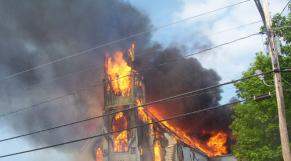 Incendie église
