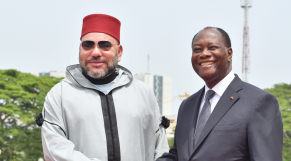 Le roi Mohammed VI et Alassane Ouattara