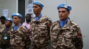 Minusca casques bleus marocains