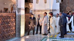 Roi Mohammed VI Avec D.G Unesco