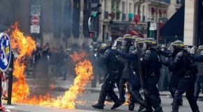 Paris heurts 1er mai