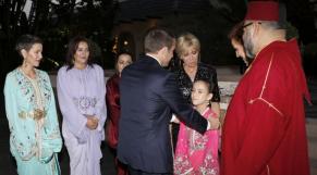 Mohammed VI, Emmanuel Macron et Lalla Khadija