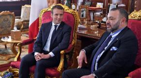 Le roi Mohammed VI et le président français Emmanuel Macron