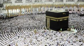 Des pèlerins musulmans à la Grande Mosquée de La Mecque