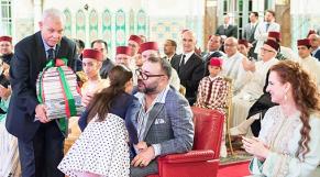 Mohammed VI présidant la cérémonie de fin d'année scolaire de l'Ecole royale