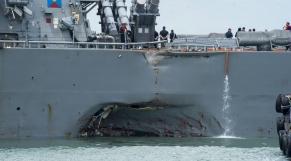 Collision navale à Singapour