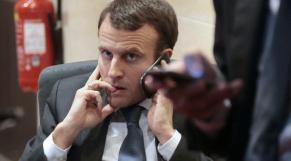 Macron au téléphone