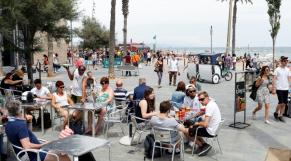 Touristes à Barcelone
