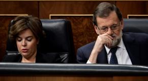 Soraya Saenz et Rajoy